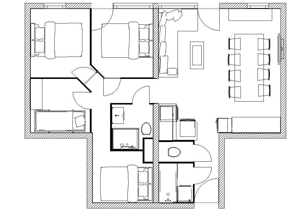Location val thorens val thorens location appartement for Plan en 2d